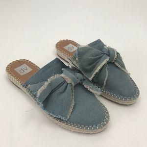 Dolce Vita Sz 8 Blue Denim Bow Mule Sandal